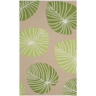 Martha Stewart by Safavieh Hand-hooked Lily Pad Rug (3 x 5 - Brown)