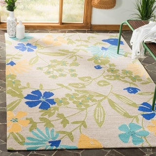 Martha Stewart by Safavieh Meadow Floral Bay Leaf / Grey / Multi Area Rug (4' x 6')