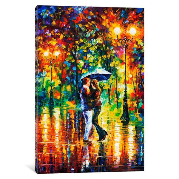 Shop Icanvas Rainy Dance Ii By Leonid Afremov Canvas Print Overstock 15438534
