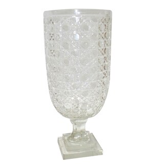 Golden Eagle Clear Glass 17.5-inch Vase