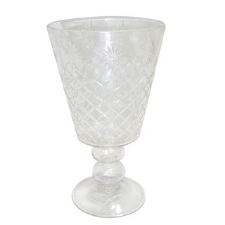 Golden Eagle Glass Flower Vase