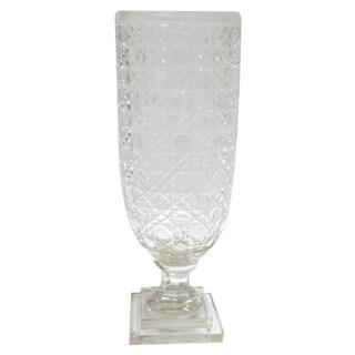 Golden Eagle Clear Glass 15-inch Vase
