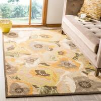 Martha Stewart by Safavieh Poppy Gold / Yellow / Green Wool Area Rug - 4' x 6'