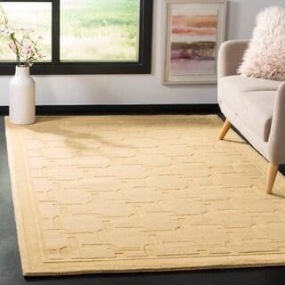 Martha Stewart by Safavieh Resort Weave Dried Chamomile / Yellow Wool Area Rug (4' x 6')
