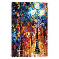 iCanvas Light In The Alley by Leonid Afremov Canvas Print