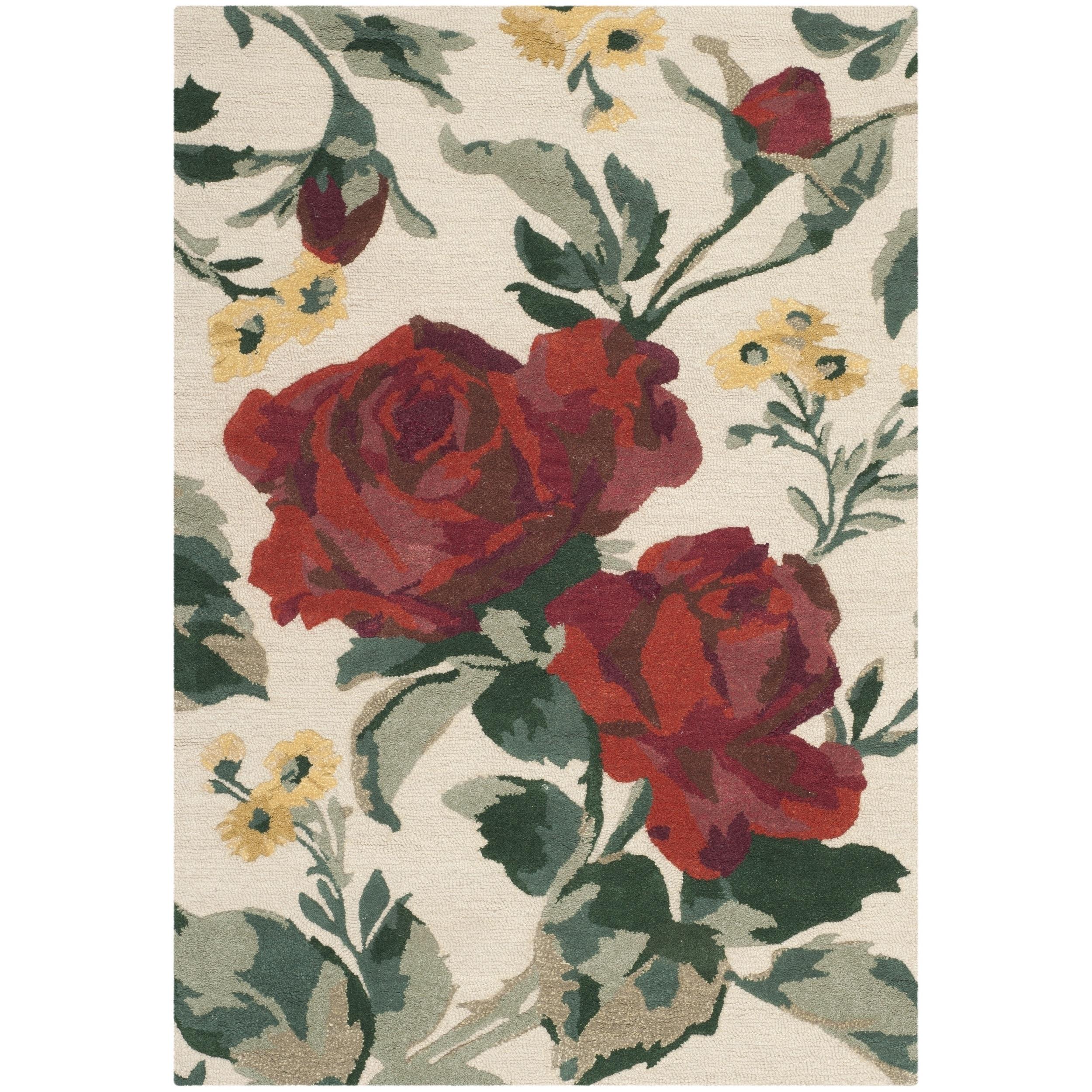 Martha Stewart by Safavieh Rose Chintz Shortbread / Red /...