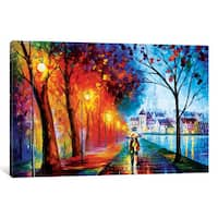 iCanvas 'City' by The Lake' by Leonid Afremov Canvas Print