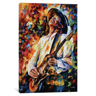 iCanvas 'Stevie Ray Vaughn' by Leonid Afremov Canvas Print