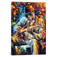 iCanvas John Lee Hooker by Leonid Afremov Canvas Print
