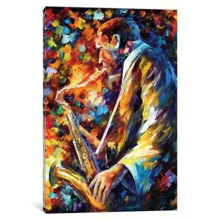iCanvas John Coltrane I by Leonid Afremov Canvas Print