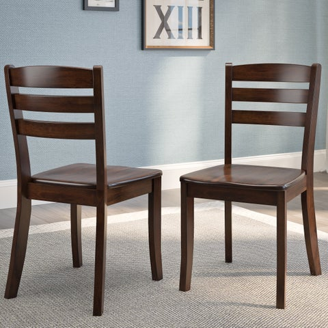 CorLiving Dillon Cappuccino Stained Solid Wood Dining Chair (Set of 2)