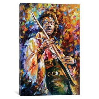 iCanvas 'Jimi Hendrix' by Leonid Afremov Canvas Print