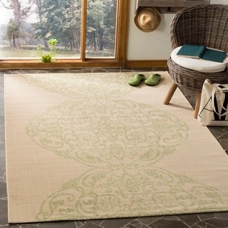 Martha Stewart by Safavieh Topiary Signet Beach Grass / Green Area Rug (4' x 5'7)