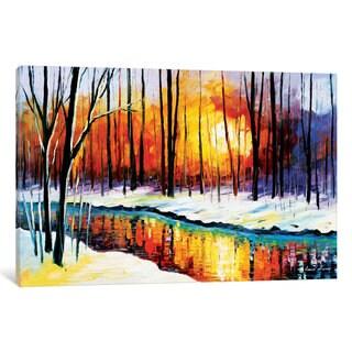 iCanvas Winter Sun by Leonid Afremov Canvas Print