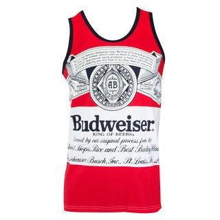 Budweiser Bottle Large Logo Red Tank Top