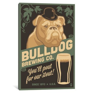 iCanvas Bulldog Brewing Co. by Lantern Press Canvas Print
