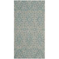 "Martha Stewart by Safavieh Tulip Medallion / Grey / Blue Area Rug - 2'7"" x 5'"