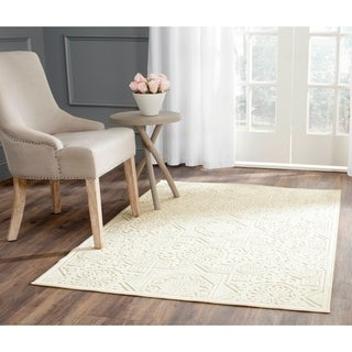 Martha Stewart by Safavieh Wayfarer Creme / Cream Viscose Area Rug (4' x 5'7)