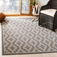 Martha Stewart by Safavieh Anthracite / Beige / Grey / Beige Area Rug - 5'3 x 7'7