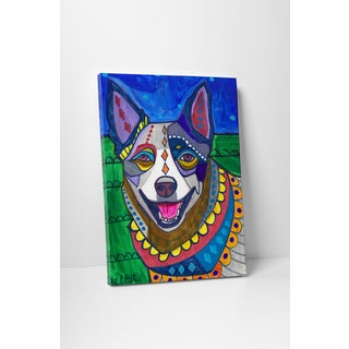 Heather Galler Australian Cattle Dog Gallery Wrapped Canvas Wall Art