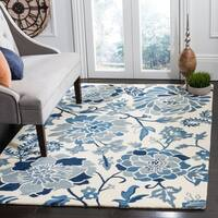 Martha Stewart by Safavieh Azurite / Blue / Ivory Wool Area Rug - 5' x 8'
