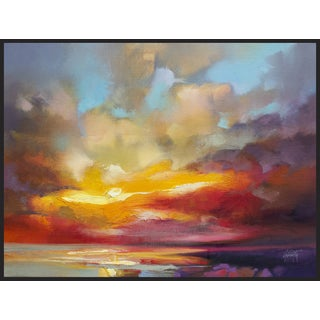 Scott Naismith 'Scattered Rays' Framed Gel Brush Finish Canvas Wall Art Decor