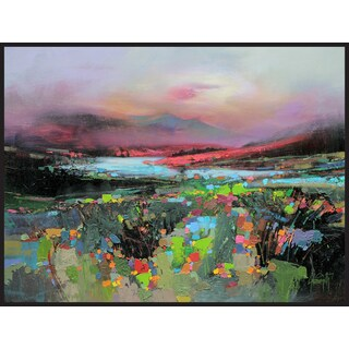 Hobbitholeco Scott Naismith 'Floral View' Framed Gel Brush Finish Canvas Wall Art Decor