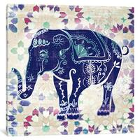 iCanvas 'Painted Elephant II' by Katrina Craven Canvas Print