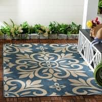 Martha Stewart by Safavieh Bloomfield Azurite / Blue Area Rug - 6'7 x 9'6