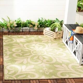 Martha Stewart by Safavieh Bloomfield Beach Grass / Green Area Rug - 5'3 x 7'7