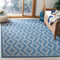 Martha Stewart by Safavieh Blue / Beige Area Rug - 6'7 x 9'6