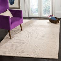 Martha Stewart by Safavieh Breeze Buckwheat Flour / Ivory Wool Area Rug - 5' x 8'