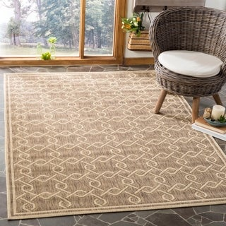Martha Stewart by Safavieh Brown / Cream Area Rug (5'3 x 7'7)