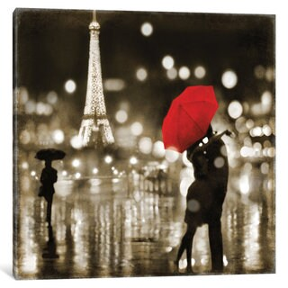 iCanvas 'A Paris Kiss' by Kate Carrigan Canvas Print (More options available)