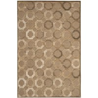 Martha Stewart by Safavieh Brown Viscose Area Rug - 5'1 x 7'6