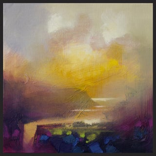 Hobbitholeco Scott Naismith 'Sunny View I' Framed Gel Brush Canvas Gallery Wrapped Wall Art