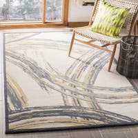 Martha Stewart by Safavieh Beige / Grey Wool Area Rug - 5' x 8'