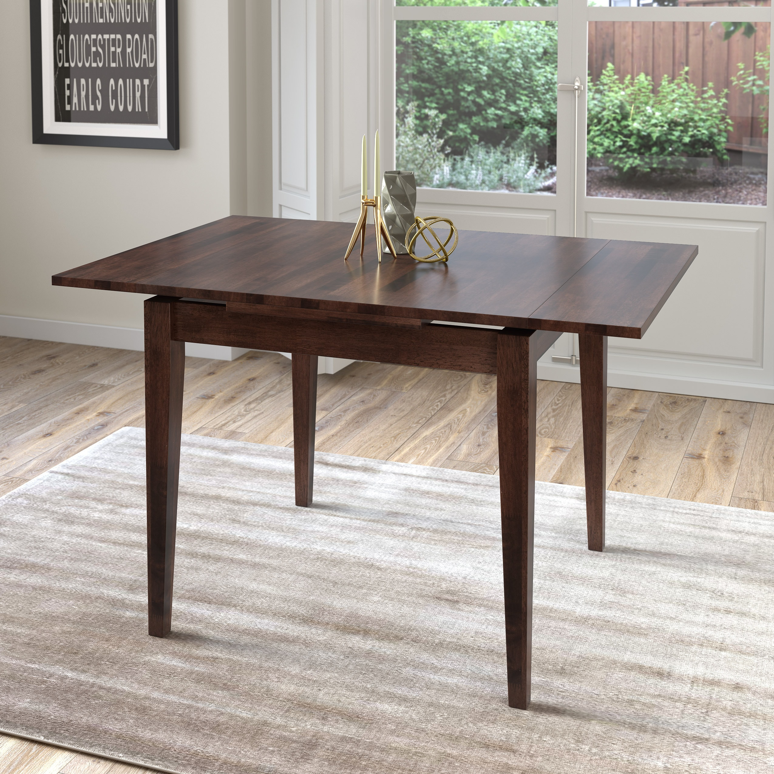 CorLiving Dillon Extendable Cappuccino Dining Table (Capp...