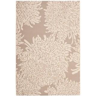 """Martha Stewart by Safavieh Chrysanthemum Dark Beige / Beige / Beige Area Rug - 6'-7"""" x 9'-6"""""""
