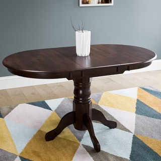 CorLiving Cappuccino Extendable Oval Pedestal Dining Table