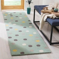 Martha Stewart by Safavieh Confetti Dot Tobacco Leaf / Beige Wool Area Rug - 5' x 8'