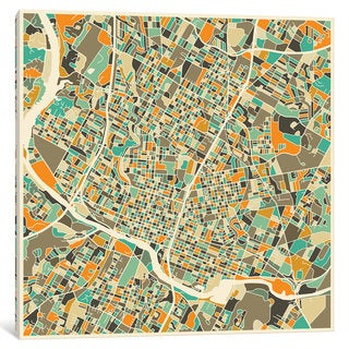 iCanvas 'Abstract City Map of Austin' by Jazzberry Blue Canvas Print