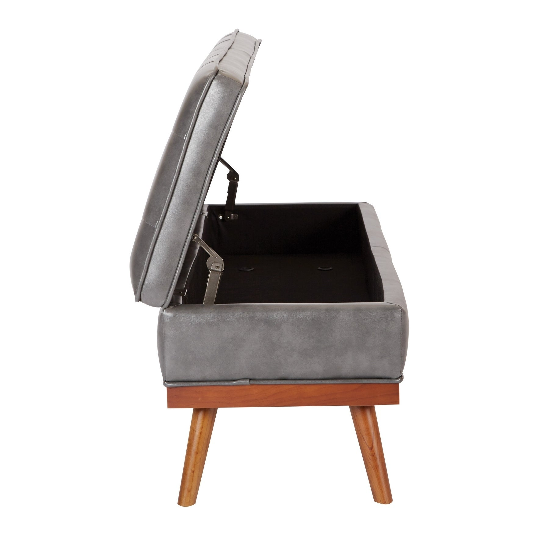 Sensational Osp Home Furnishings Mid Century Katheryn Storage Bench In Bonded Leather Andrewgaddart Wooden Chair Designs For Living Room Andrewgaddartcom
