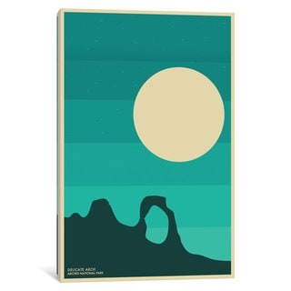 iCanvas 'Arches' by Jazzberry Blue Canvas Print