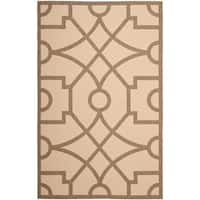 Martha Stewart by Safavieh Fretwork Dark Beige / Beige Area Rug - 6'7 x 9'6