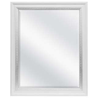 MCS Industries White and Silver Framed Wall Mirror