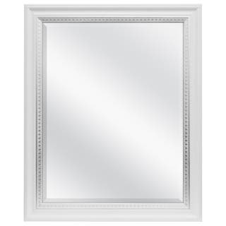 mcs industries white and silver framed wall mirror - White Framed Mirrors