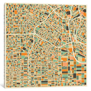 iCanvas 'Abstract City Map of Los Angeles' by Jazzberry Blue Canvas Print