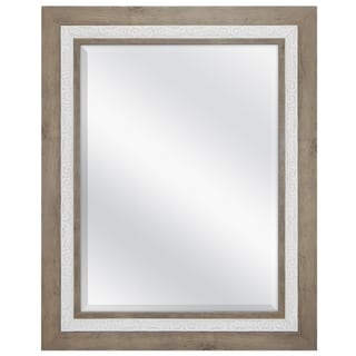 MCS Industries Rustic Wood with Whitewash Wall Mirror