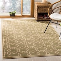 Martha Stewart by Safavieh Green / Cream Area Rug - 6'7 x 9'6